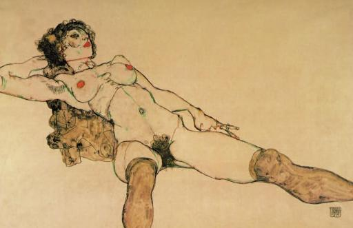 Reclining nude with legs spread apart 1914 Poster Print by Egon Schiele 1067970
