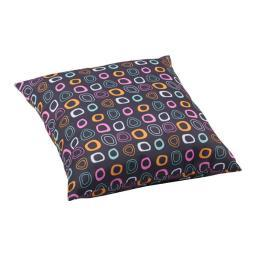 Zuo Kitten Pillow Large Chocolate Base and Multicolor Pattern