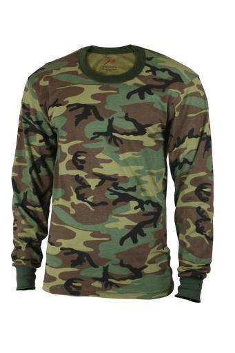 Boys Woodland Long Sleeve Camo Shirt