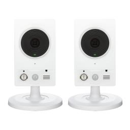 Two Pack D-Link HD Wireless Surveillance Day and Night Motion Detection Camera