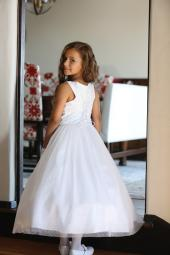 35e6497b852 Angels Garment Big Girls White Mesh Lace Tulle Bead Bolero Communion Dress 7
