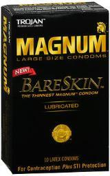 Trojan Magnum BareSkin Lubricated Latex Condoms - 10 ct CH2887