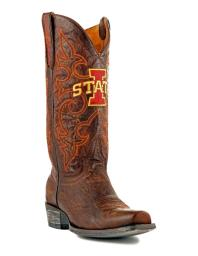 Gameday Boots Mens College Team Iowa State Cyclones Brass IOS-M135-1 IOS-M135-1
