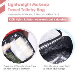 420D Clear Makeup Travel Toiletry Bag Portable Lightweight Cosmetic Organizer L/M/S