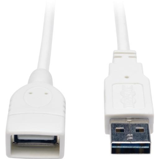 Tripp lite ur024-003-wh 3ft usb extension cable usb m/f