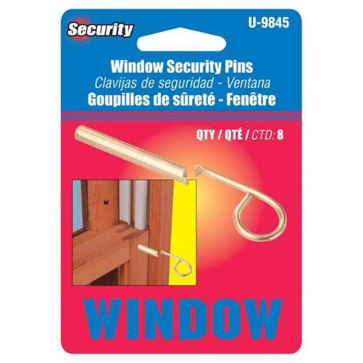 Prime-Line Products-Slide U 9845 Lock Wood Window cd6 Brass