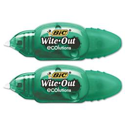 Bic WOETP21 Wite-Out Mini Correction Tape  White  2/pk  1/5   x 19.8ft.