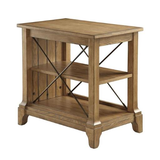 Urban Designs 4790928 French Provincial Design 3-Tier End Table, Oak