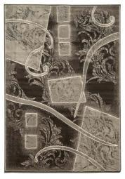Linon Jewel Brown/Cream Rug Rug Size: 2' x 3'