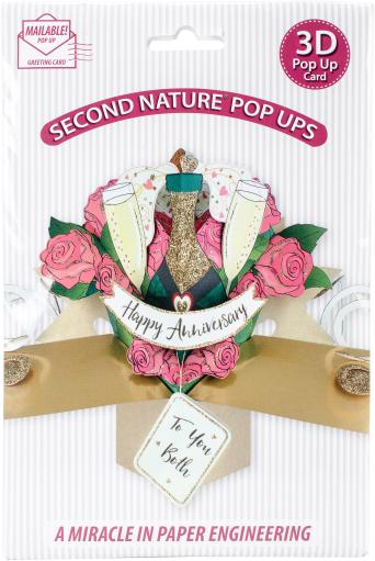 Pop-Up 3D Greeting Card 1/Pkg-Your Anniversary Champagne Bottle WJFWDHAUWWSAEL70
