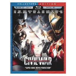 Captain america-civil war (blu-ray/3d/2d/2 disc/digital hd) (3-d) BR135201