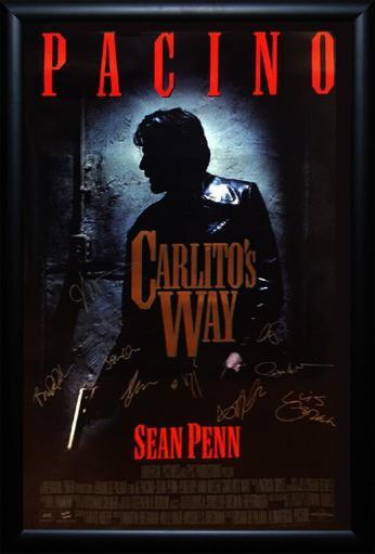 Carlito's Way - Signed Movie Poster in Wood Frame with COA