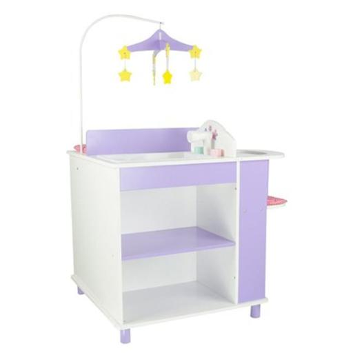 Teamson Design Corp TD-0203A Little Princess Doll Furniture - Baby Changing Station With Storage, 18 in.