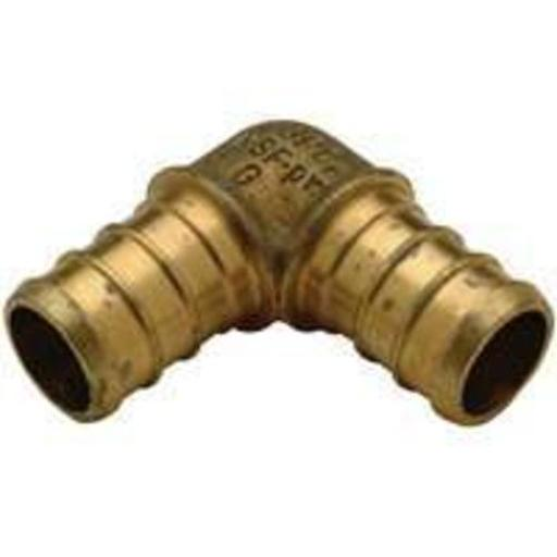 Zurn Qqe44gxnpk1 Pex Fittings Low Lead Barb Elbow, 3/4