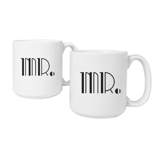 Cathys Concepts GMR-3900 Mr. & Mr. Gatsby 20 oz. Large Coffee Mugs Set of 2