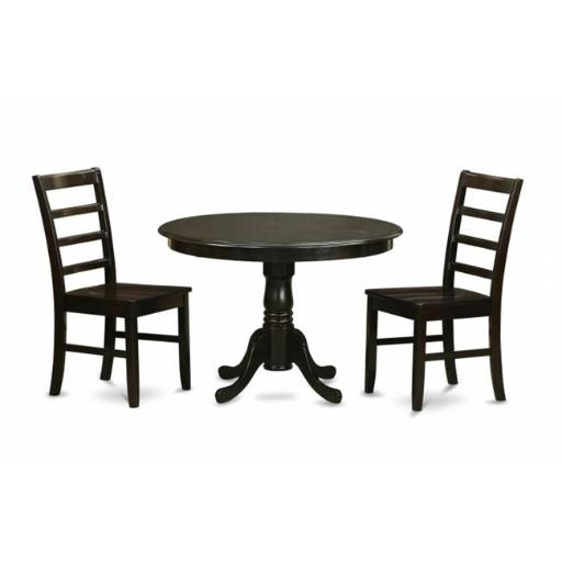 East West Furniture HLPF3-CAP-W 3 Piece Small Kitchen Table and Chairsset-Kitchen Table and 2 Dinette Chairs