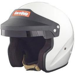 RaceQuip 253117 Open Face Snell Helmet - White, 2XL 253117