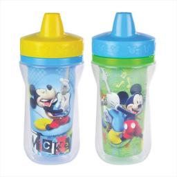 Insulated Sippy Cup, Mickey Mouse, 2 Count
