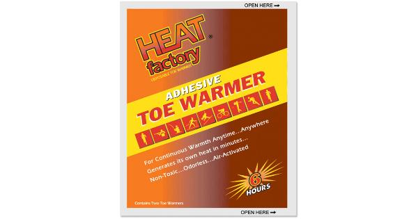 Heat factory usa inc heat fact adh toe warmer 2pk 6hr