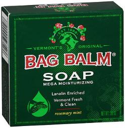 Bag Balm Mega Moisturizing Soap Rosemary Mint - 3.9 Oz Bar