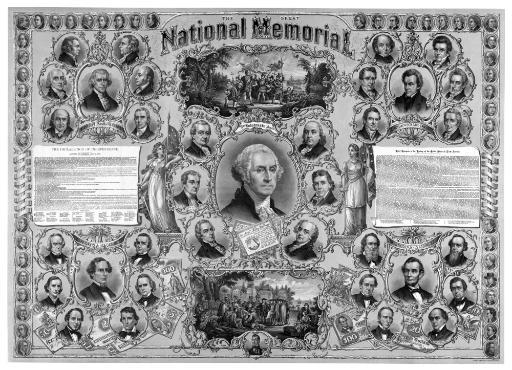 Digitally restored vintage print featuring great leaders from American history Poster Print