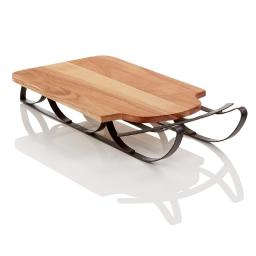 Martha Stewart Collection Wood Sled Serving Board Brown