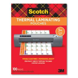 """Laminating Pouches 3 Mil 9"""" X 11.5"""" Gloss Clear 100 Per Pack   1 Pack of: 100"""