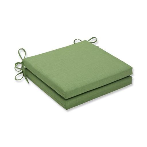 Pillow Perfect 614076 20 x 20 x 3 in. Outdoor & Indoor Rave Lawn Squared Corners Seat Cushion, Green - Set of 2