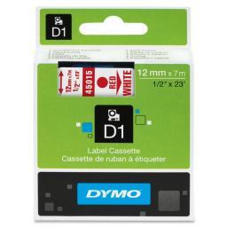 Dymo 45015 red print/ white tape, 1/2 x 23
