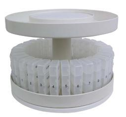 JOBAR  North American Health Care Pill Organizer 31 pill holders Rotates 360 degrees