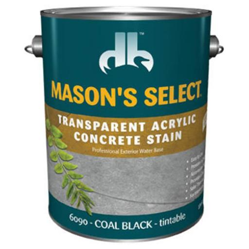 Duckback Products DB0060904-16 Masons Select, Gallon, Coal Black - Transparent Concrete Stain