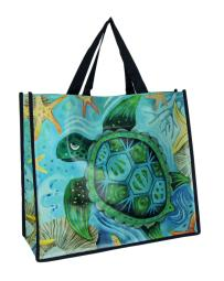 Allen Designs Happy Turtle Durable Coated Shopping Bag