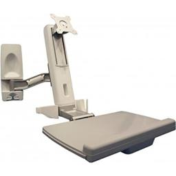 Amer Networks AMR1WS Sit Stand Wall Mounted Computer Workstation System