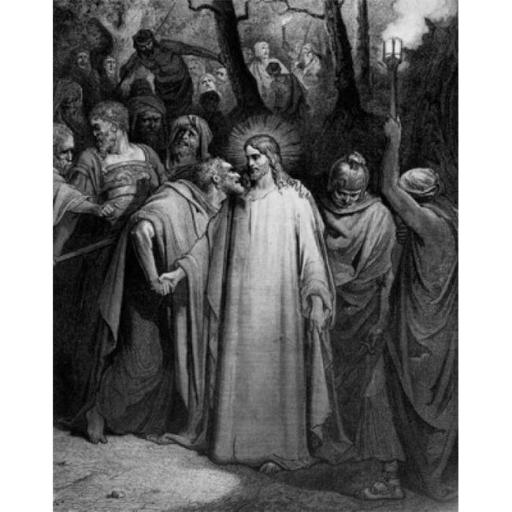 Posterazzi SAL995103095 Betrayal by Judas Gustave Dore 1832-1883 French Engraving Poster Print - 18 x 24 in.