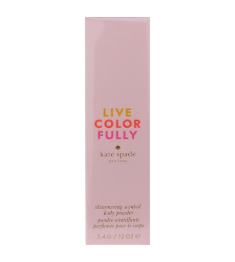 Kate Spade Live Colorfully Shimmering Scented Body Powder 0.12oz/3.4g New In Box