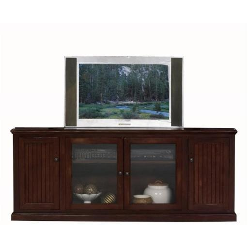 Eagle Furniture 72580PLCY-72515WPCY 80 in. Coastal Thin Entertainment Console & Hutch, Cupola Yellow