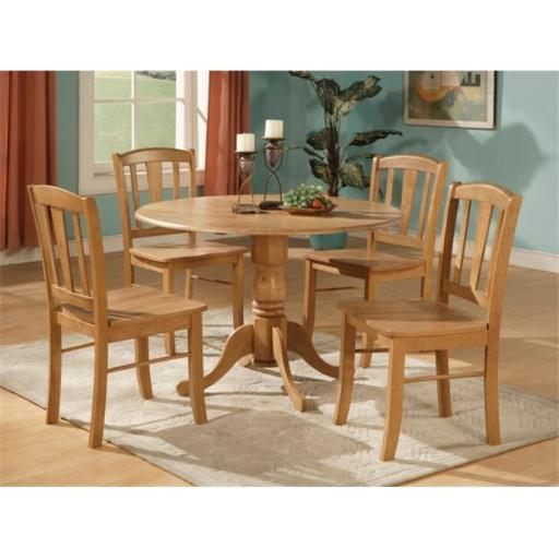 5 Piece Small Kitchen Table and Chairs Set-Round Table and 4 Dinette Chairs Chairs