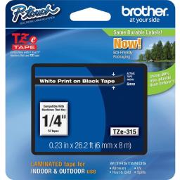 Brother industries, ltd p-touch tze laminated tape cartridges tze315