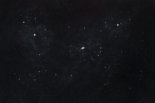 Cluster of stars in outer space, each consisting of it's own unique solar system and habitable planets Poster Print