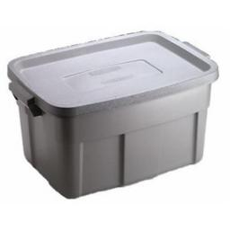 Rubbermaid 2212-CP-STEEL Roughneck Tote - 14 Gallon, Pack Of 12