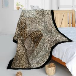 """Onitiva - Magic Leopard Animal Style Patchwork Throw Blanket (61""""-86.6"""")"""