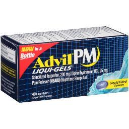 Advil PM Liqui-Gels Ibuprofen Pain Reliever Nighttime Sleep-Aid