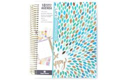 Pl-0024e paper house life org planner 18 month leaves happy