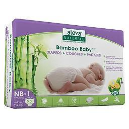 Aleva naturals 37842 bamboo baby diapers size nb