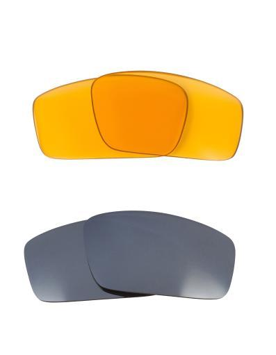 Best SEEK Replacement Lenses for Oakley SQUARE WIRE (2006) Amber Silver Mirror