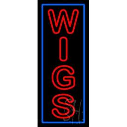 Sign Store N100-5887-outdoor Red Double Stroke Wigs With Blue Border Outdoor Neon Sign, 13 x 32 x 3.5 In.
