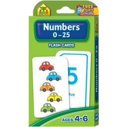 Flash Cards-Numbers 0-25 54/Pkg