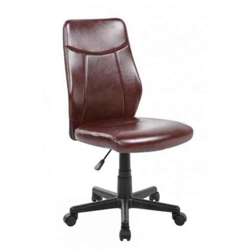 United Seating UOC-8039-BR Modern Ergonomic Mesh Medium Back Computer Desk Task Office Chair with Brown Seat
