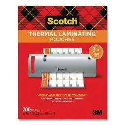 """Laminating Pouches 3 Mil 9"""" X 11.5"""" Gloss Clear 200 Per Pack   1 Pack of: 200"""