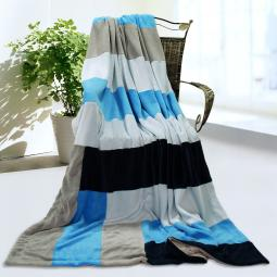 """Onitiva - Love is blue Soft Coral Fleece Patchwork Throw Blanket (59""""-78.7"""")"""